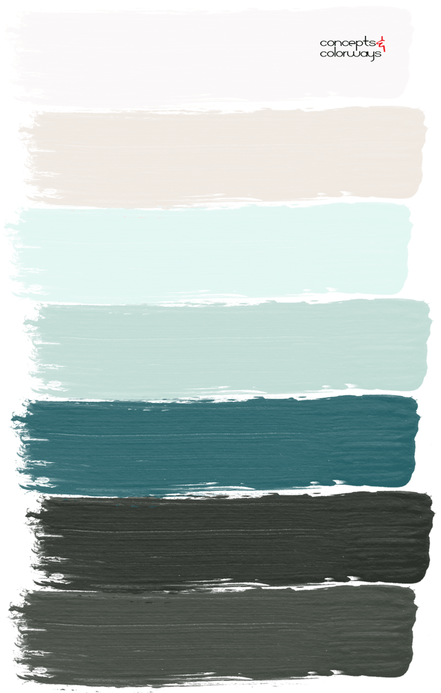 green paint palette