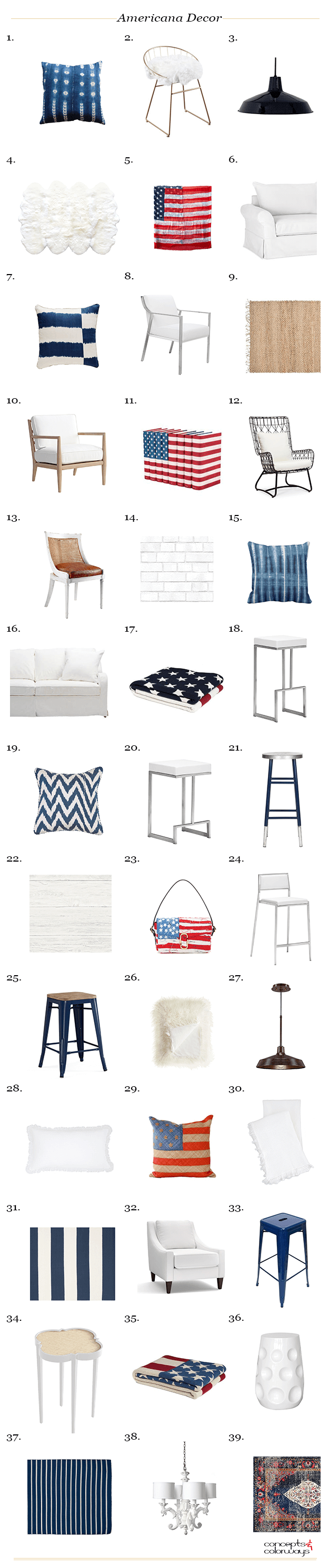 americana decor product roundup