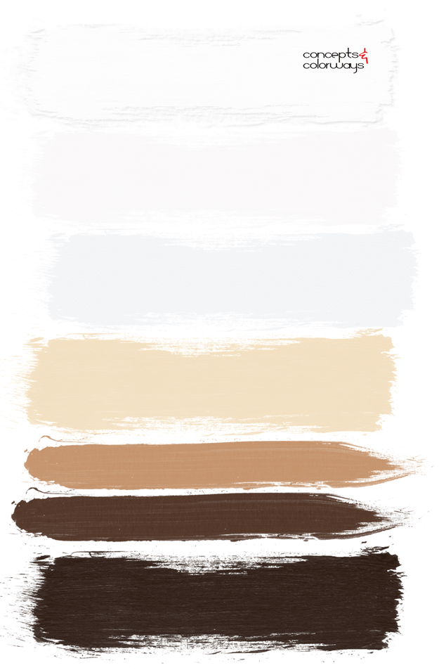 chocolate, caramel and cream color palette