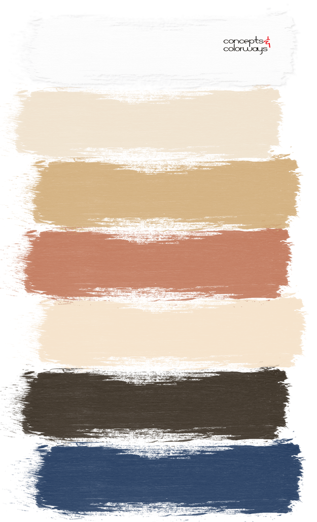 a nautical style interior paint palette