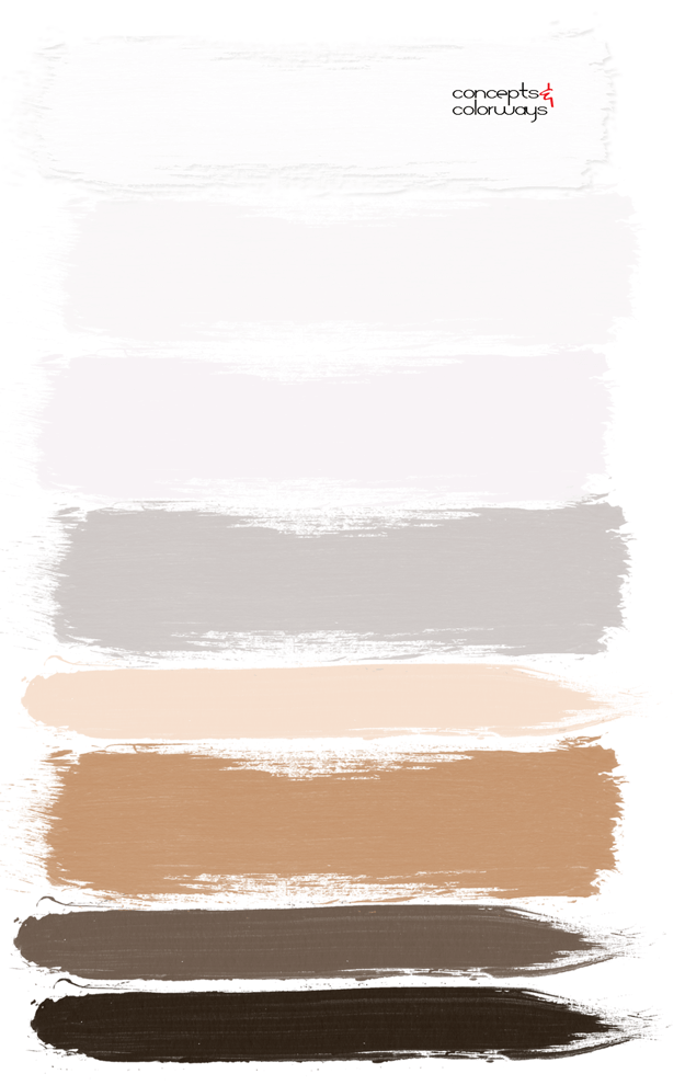 caramel brown and white paint palette
