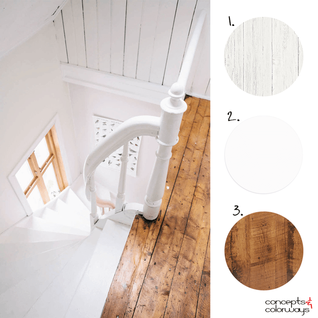 reclaimed oak and white interior design ideas