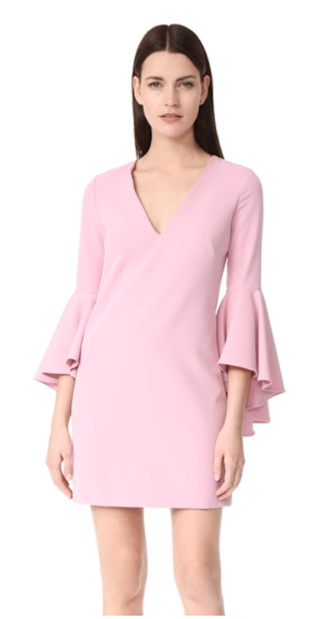 blush pink long sleeve dress