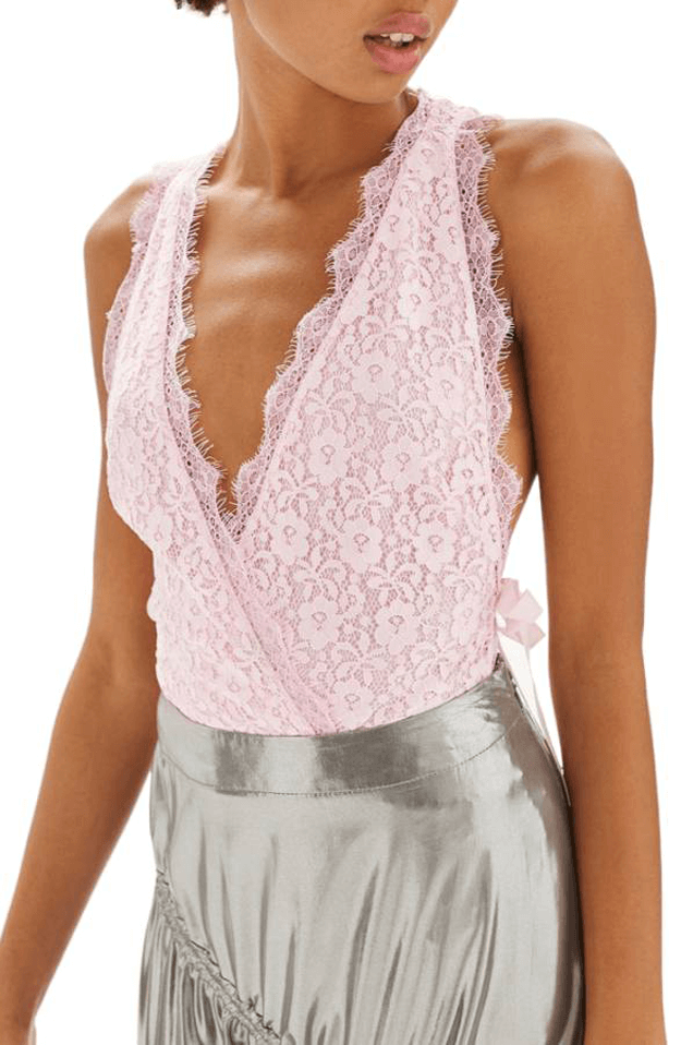 blush pink lace bodysuit