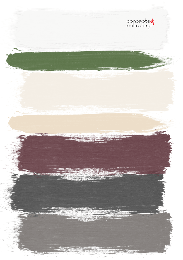 burgundy and gray paint palette