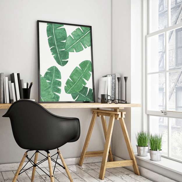 banana leaves limited edition print