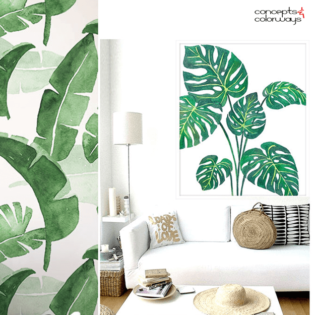 Strange Palm Fronds And Banana Leaf Tropical Prints Concepts And Machost Co Dining Chair Design Ideas Machostcouk