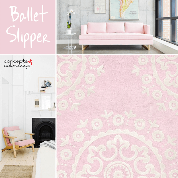 pantone ballet slipper interior design color trend 2017