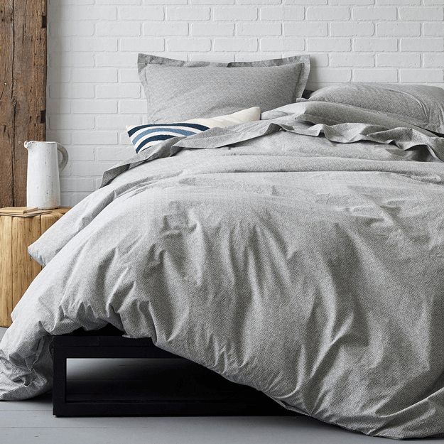 grey organic duvet cover