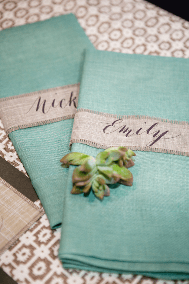 light teal cloth napkins