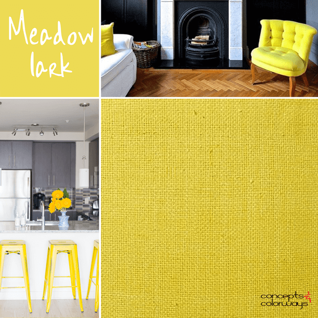 pantone meadowlark bright yellow interior design