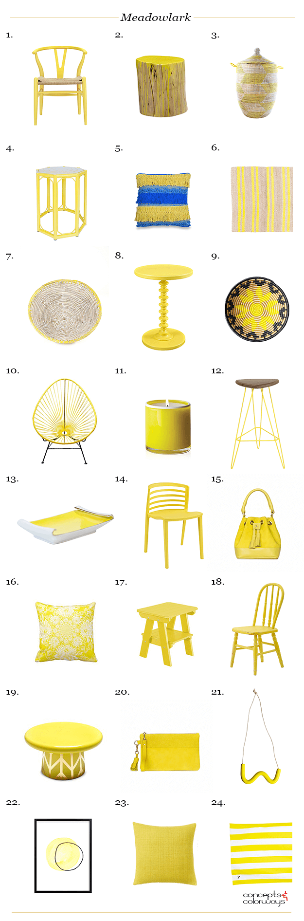 pantone meadowlark interior design product roundup