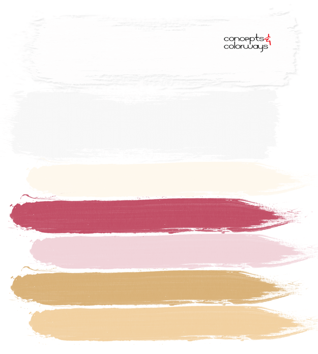 white cream pink and gold paint palette