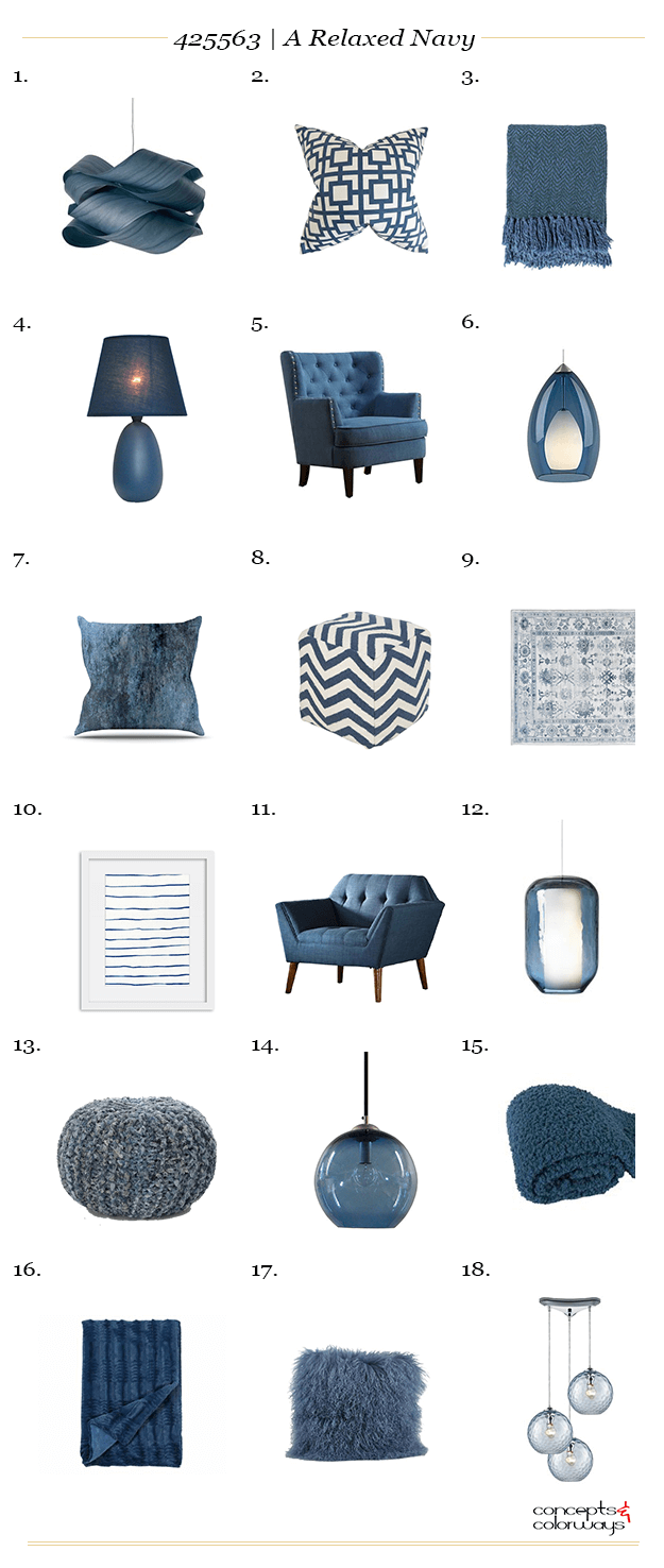 slate blue navy blue interior design product roundup