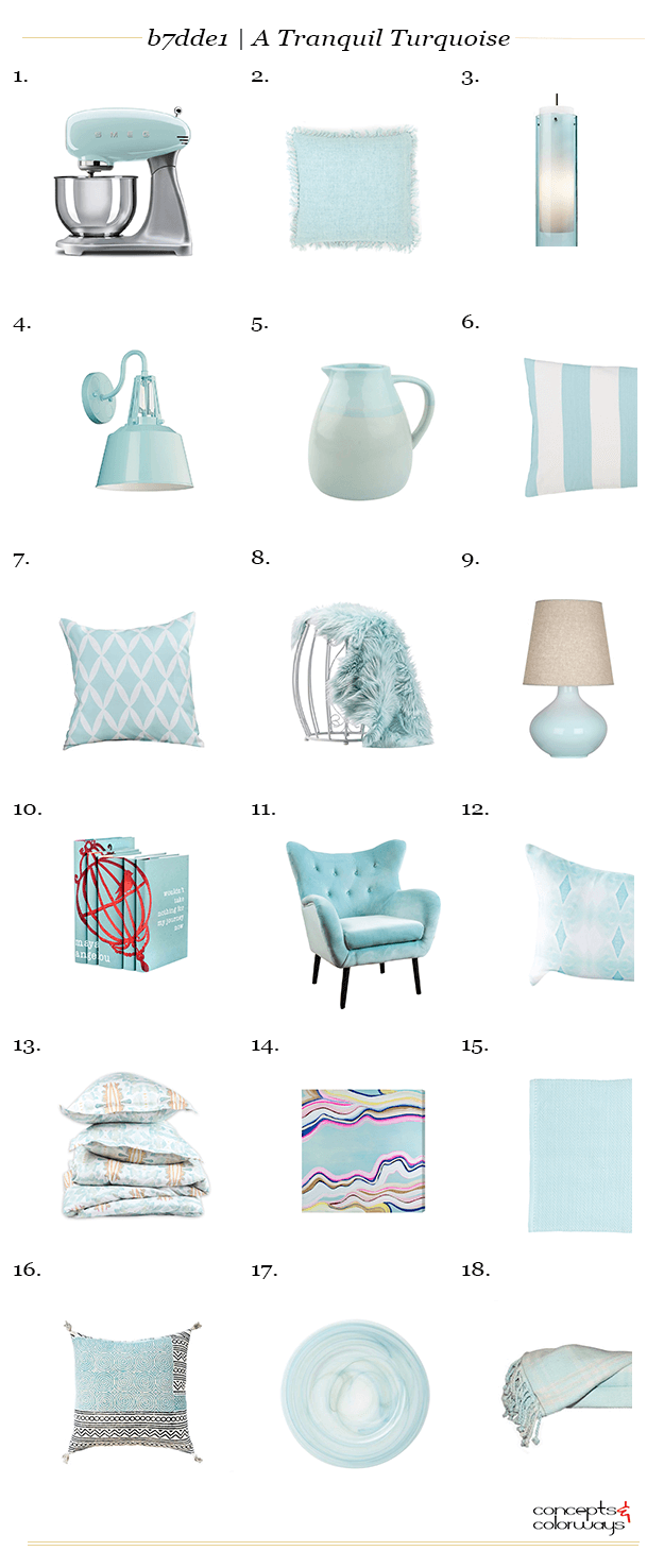 light turquoise interior design product roundup
