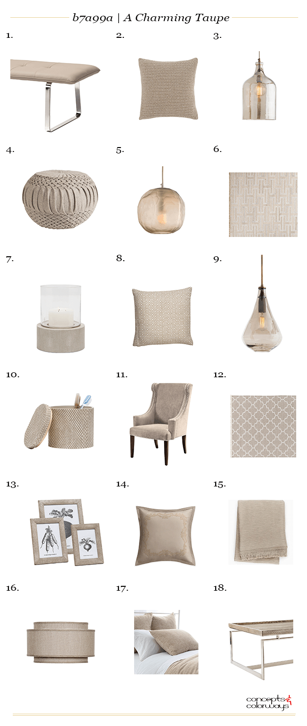 b7a99a a charming taupe interior design product roundup