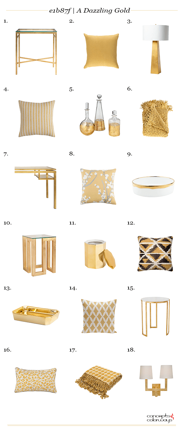 e1b87f a dazzling gold interior design product roundup