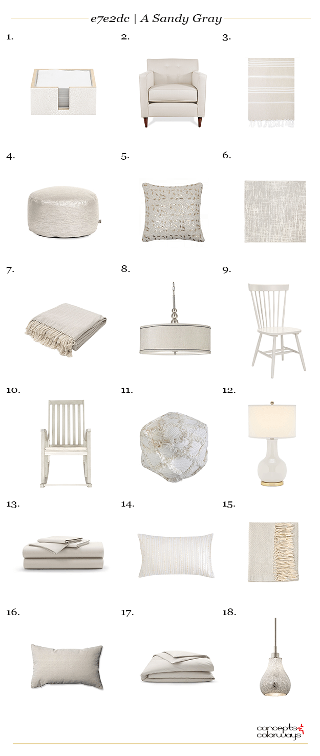 sand gray interior design product roundup