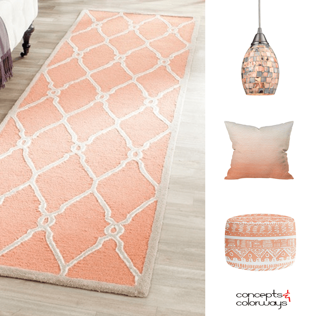 creamy peach interior design product roundup