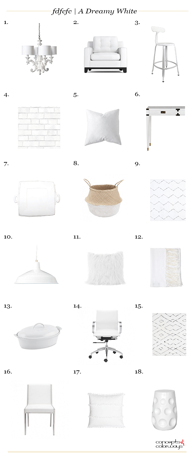 a dreamy white interior design product roundup