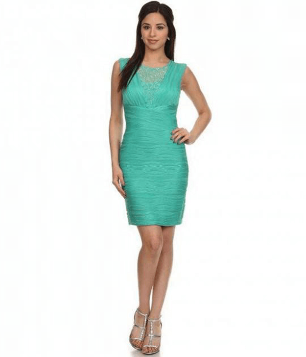 jade green party dress