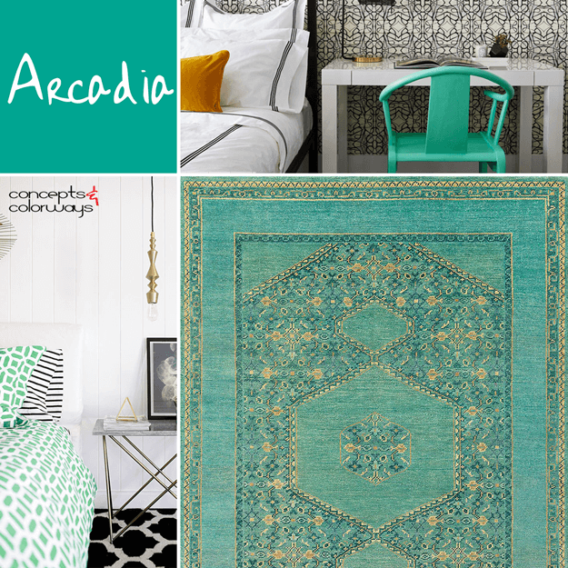 pantone arcadia interior design color trends 2018