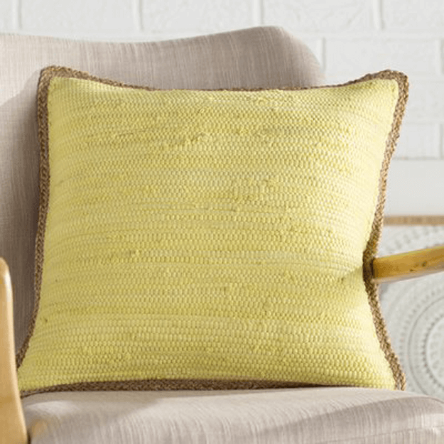 lemon yellow pillow