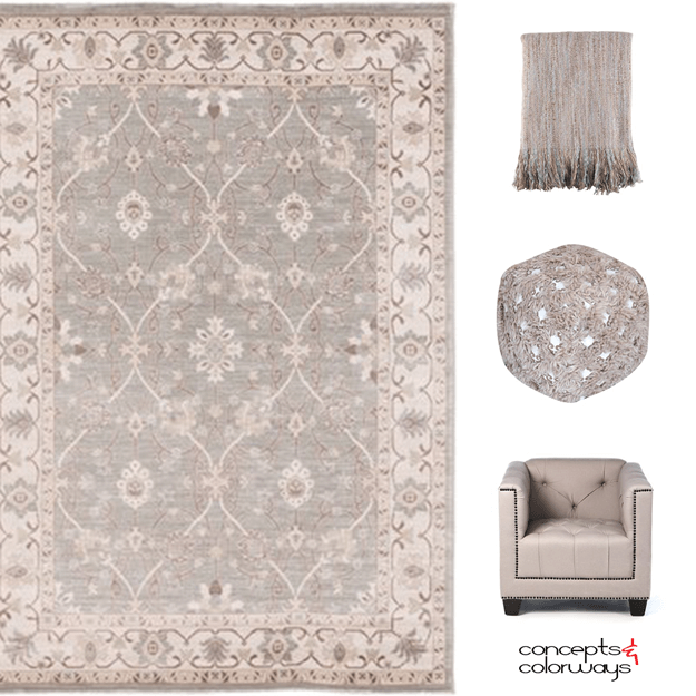 a blushing taupe interior design mood board
