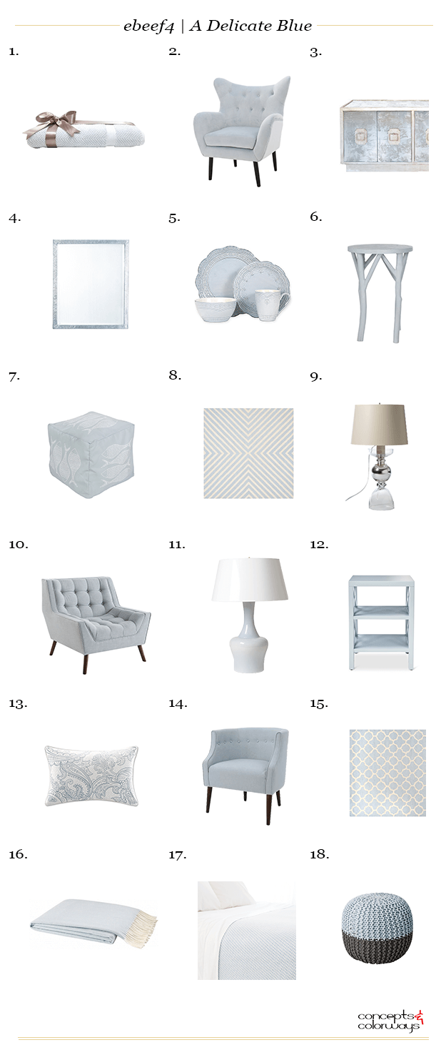 pale blue interior design product roundup