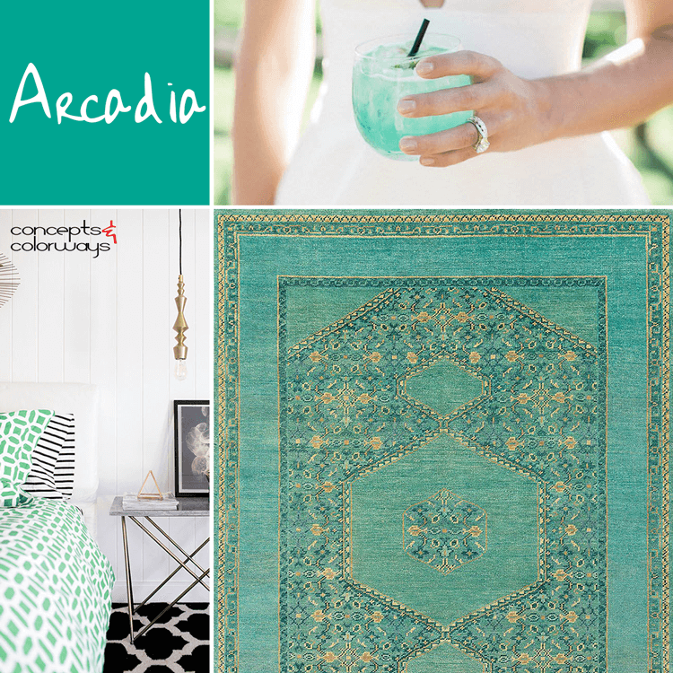 pantone arcadia, interior design color trends, color trends 2018, emerald green, jade green, blue-green, mint green, color for interiors