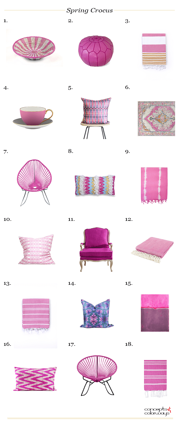 pantone spring crocus interior design product roundup