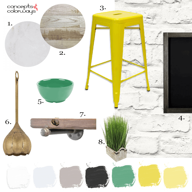 industrial style kitchen mood board