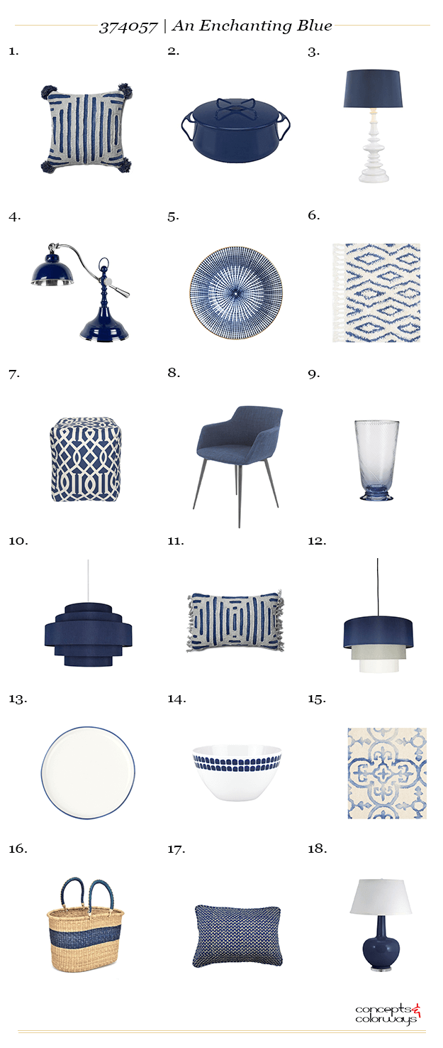 navy blue interior design product roundup