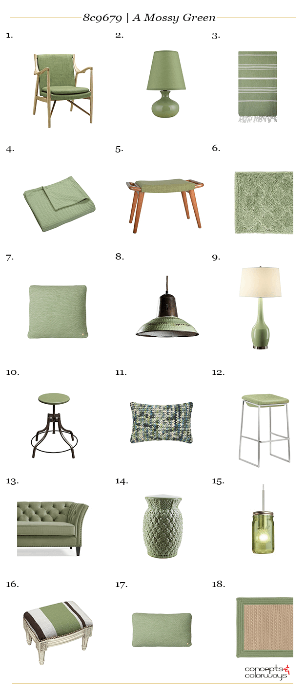 sage green interior design product roundup