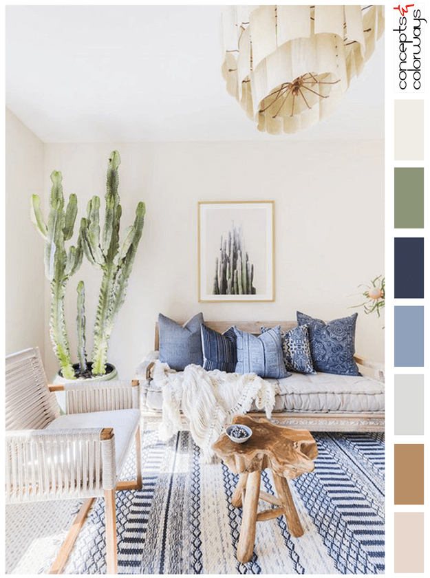 southwestern softness living room colors