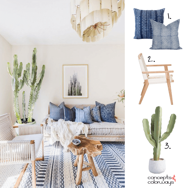 southwestern living room mood board
