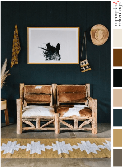 MODERN RANCH (AN OCHRE AND DARK TEAL COLOR PALETTE)