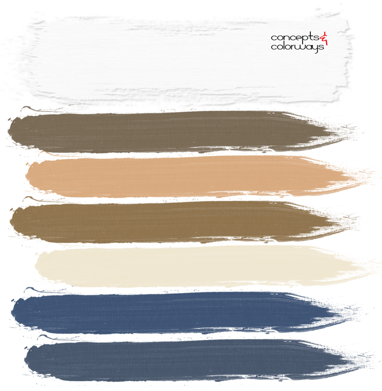 coastal bedroom, paint palette, pantone sailor blue, navy blue, ivory, blonde, white, navy and white, bronze