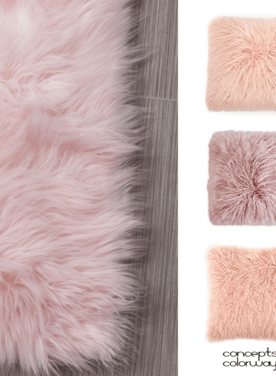 BLUSH PINK SHEEP SKIN