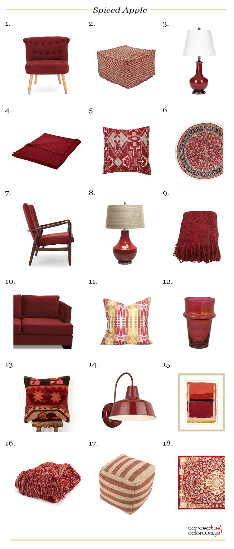 pantone spiced apple, apple red, reddish brown, brown red, dark red, red decor, red vintage rug, russet red, burgundy decor, burgundy, dark red pouf, dark red chair, dark red lamp, dark red rug, dark red pillow, dark red throw blanket