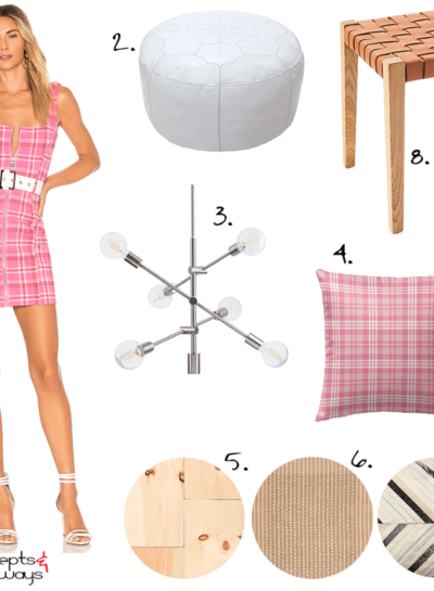 A MODERN INTERIOR INSPIRED BY A PINK PLAID DRESS
