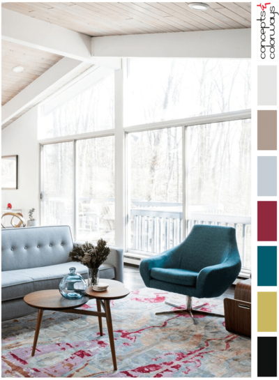 A TEAL AND PINK COLOR PALETTE WITH A TOUCH OF CHARTREUSE
