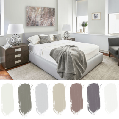 pale green bedroom, sage green blanket, ivory rug, soothing bedroom, restful bedroom ideas, bedroom color palettes